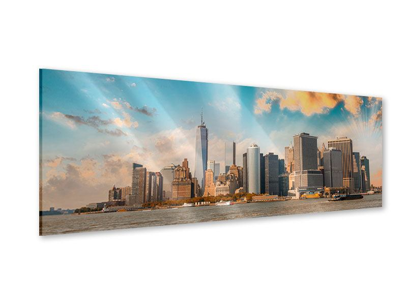 Acrylglasbild Panorama Skyline New York from the other Side