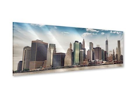 Acrylglasbild Panorama NYC From The Other Side