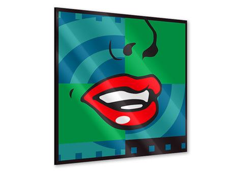 Acrylglasbild The Mouth