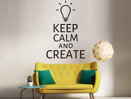 Wandtattoo Keep calm and create