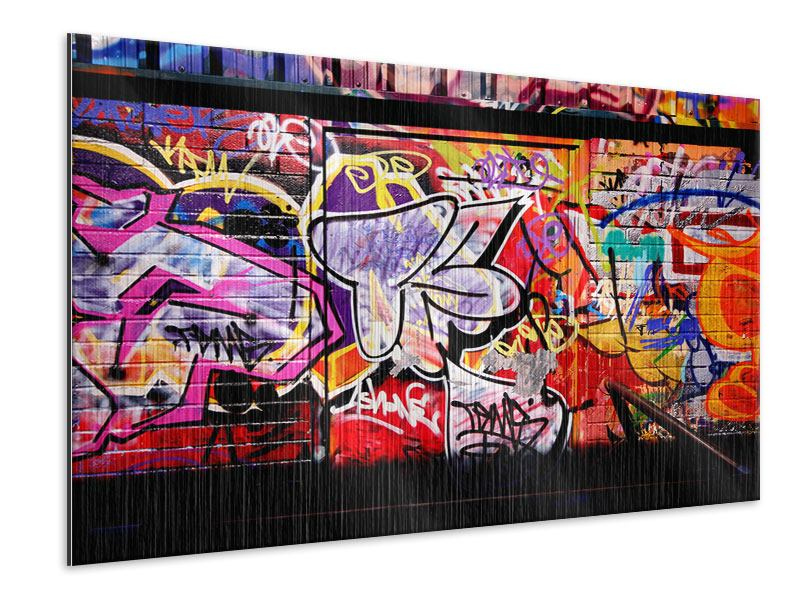 Metallic-Bild Graffiti Kunst