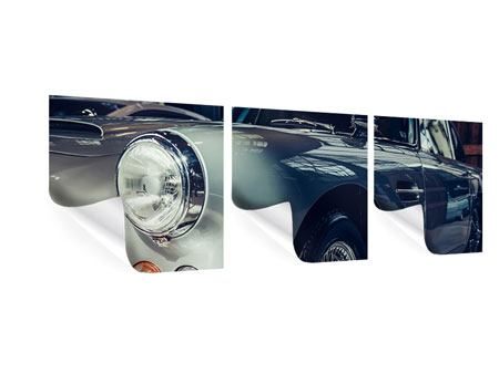 Panorama Poster 3-teilig Classic Car
