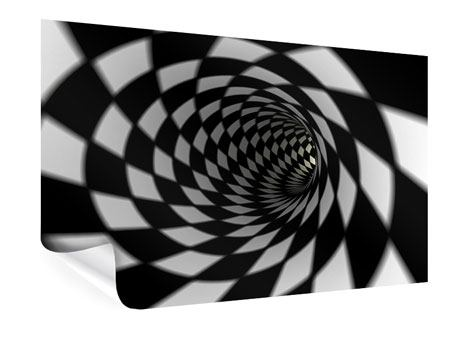 Poster Abstrakter Tunnel Black & White
