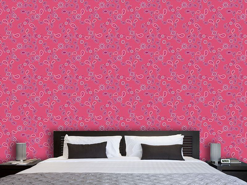 Designtapete Paisley In Pink